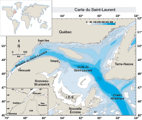 Carte du Saint-Laurent